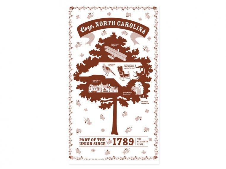 State Tea Towels by Vestiges - 34