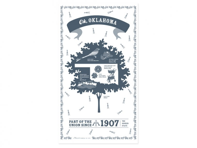 State Tea Towels by Vestiges - 37