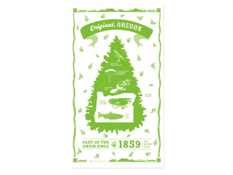 State Tea Towels by Vestiges - 38