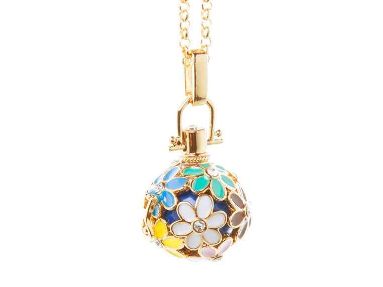 Painted Flowers Angel Locket by Yourself Expression - 7