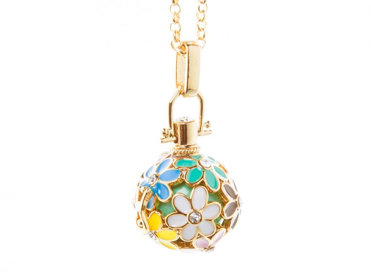 Painted Flowers Angel Locket by Yourself Expression - 8