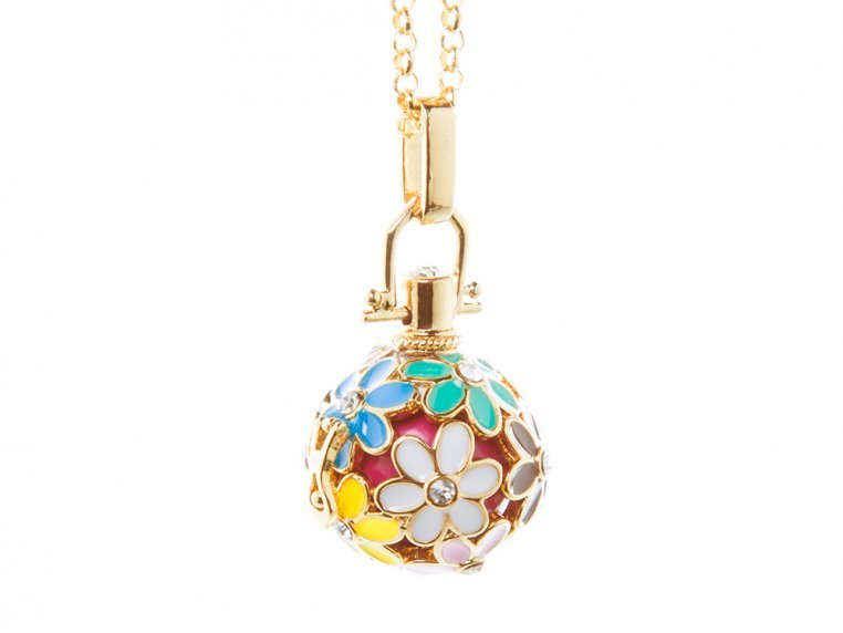 Painted Flowers Angel Locket by Yourself Expression - 5