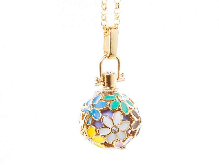 Painted Flowers Angel Locket by Yourself Expression - 9