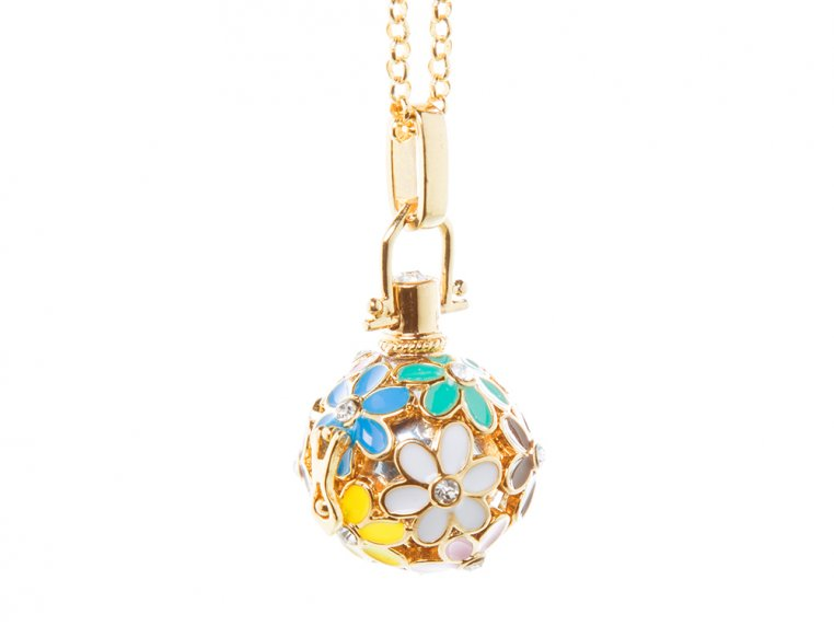 Painted Flowers Angel Locket by Yourself Expression - 4