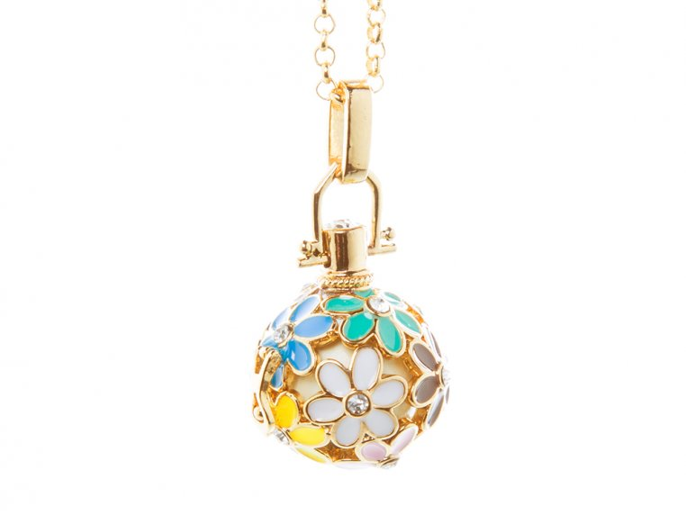 Painted Flowers Angel Locket by Yourself Expression - 6