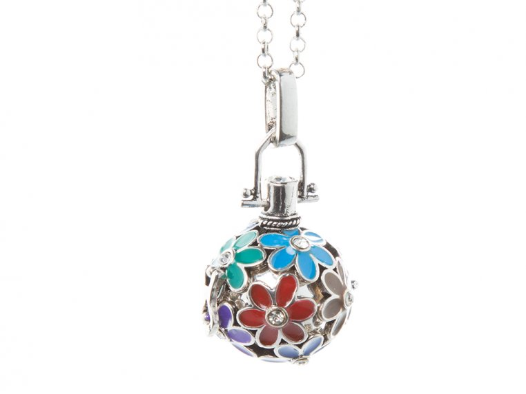 Painted Flowers Angel Locket by Yourself Expression - 10