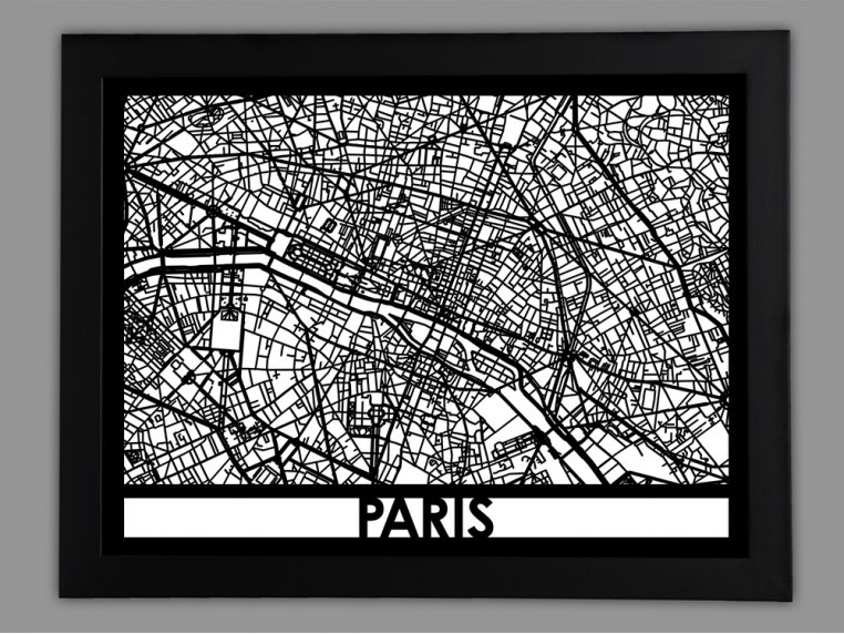 Laser Cut Worldwide City Map by Cut Maps - 16