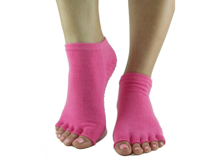 Non-Slip Fitness/Lounge Socks by Toezies - 4