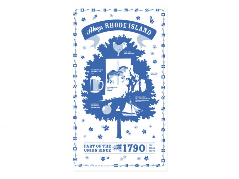 State Tea Towels by Vestiges - 40