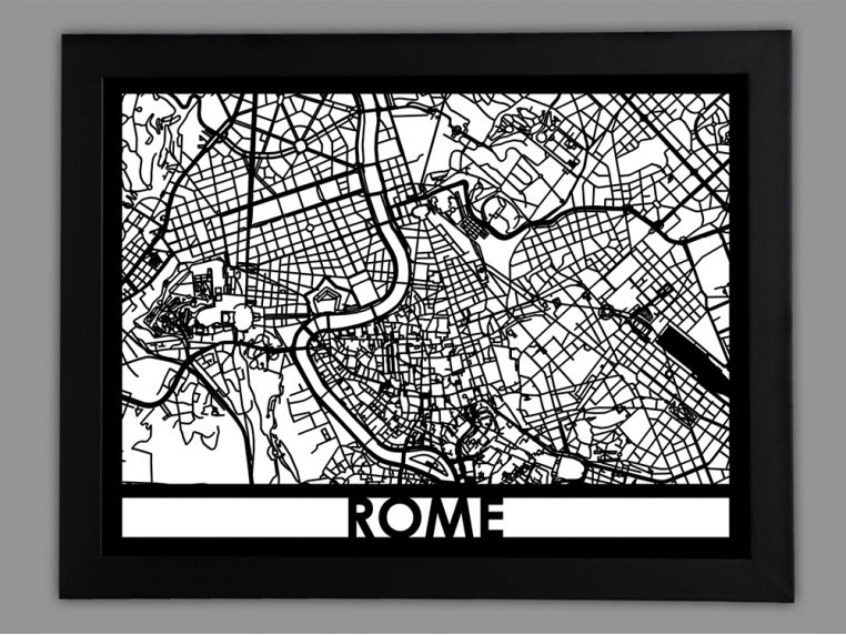 Laser Cut Worldwide City Map by Cut Maps - 15