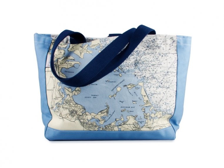 Custom Nautical Side Tote by Not for Navigation - 4