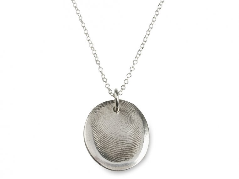 Fingerprint Pendant Necklace Kit by Precious Metal Prints - 8