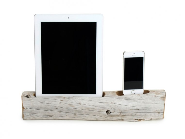 Driftwood Phone and Tablet Dock by Docksmith - 2