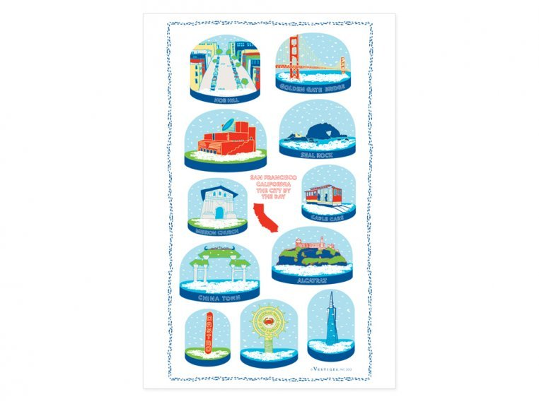 Snow Globe Tea Towels by Vestiges - 4