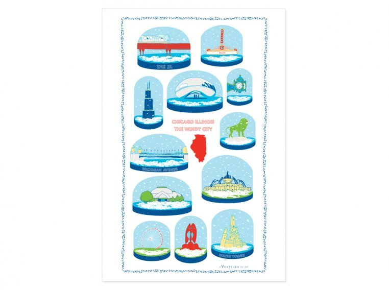 Snow Globe Tea Towels by Vestiges - 2