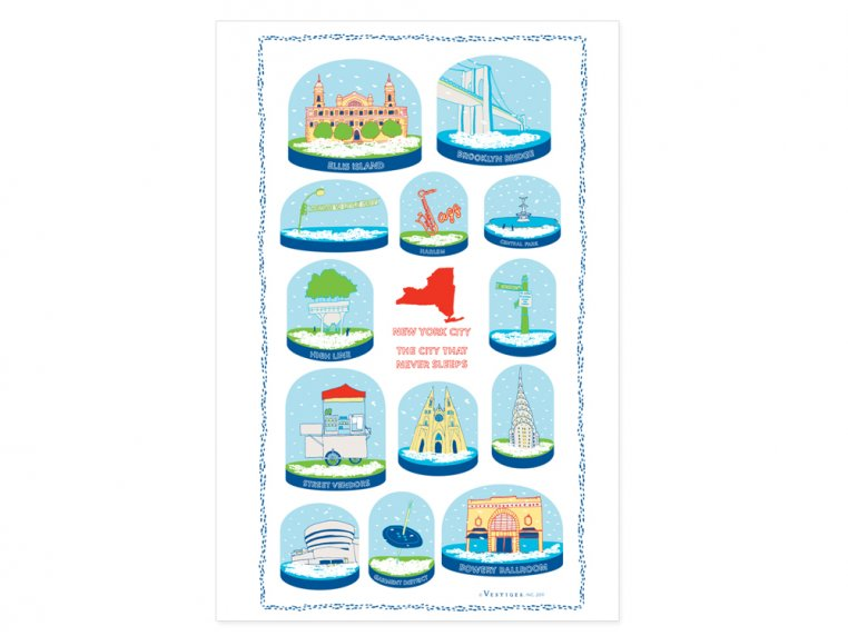 Snow Globe Tea Towels by Vestiges - 3