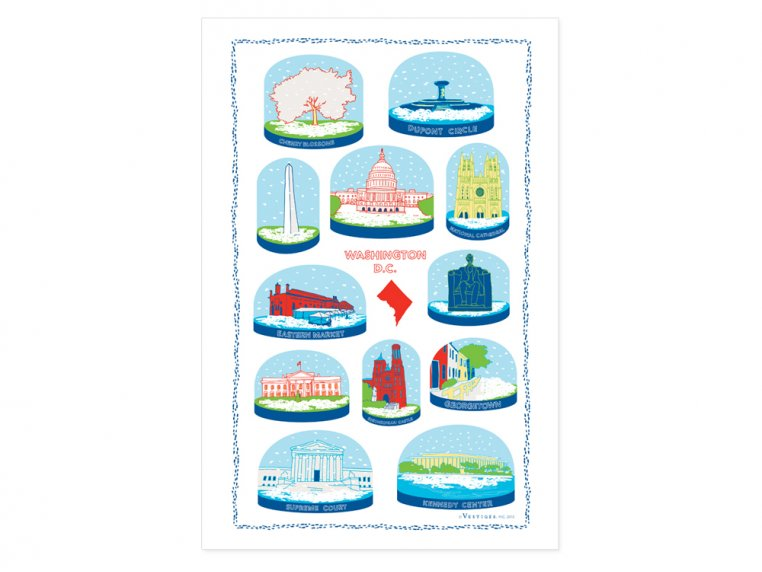 Snow Globe Tea Towels by Vestiges - 6