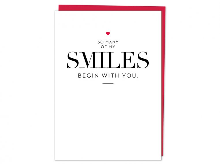 """""""So Many Smiles"""" Greeting Card by Design With Heart - 4"""