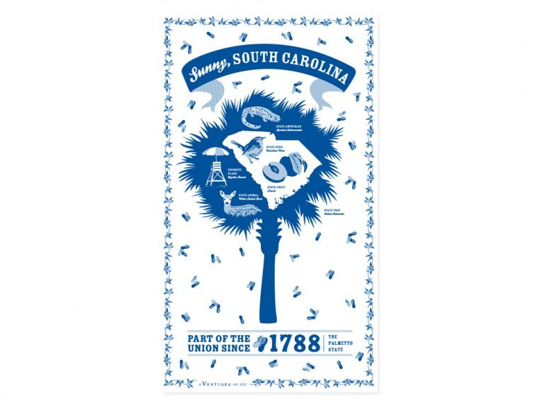 State Tea Towels by Vestiges - 41