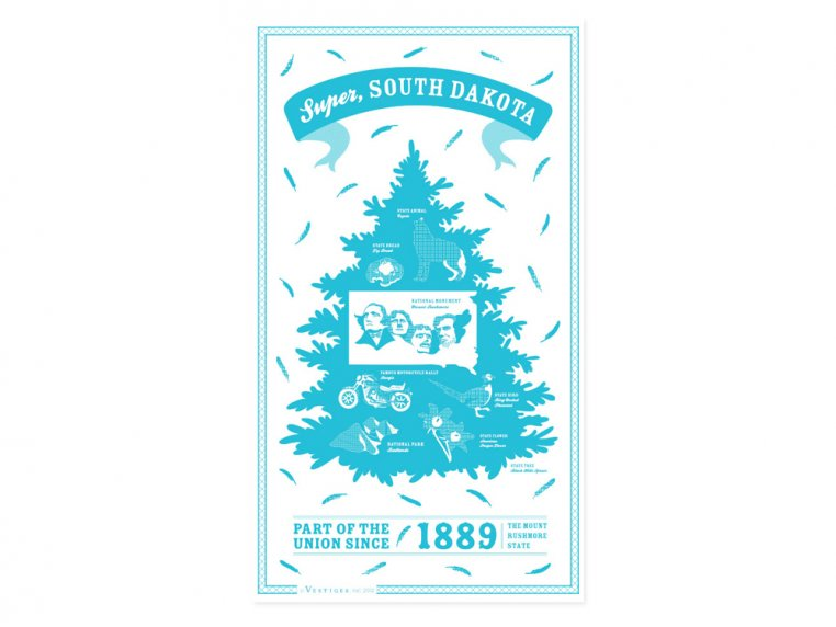 State Tea Towels by Vestiges - 42