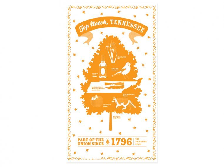State Tea Towels by Vestiges - 43