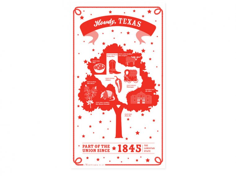 State Tea Towels by Vestiges - 44