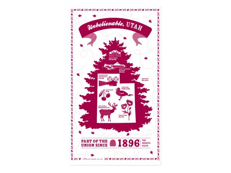 State Tea Towels by Vestiges - 45