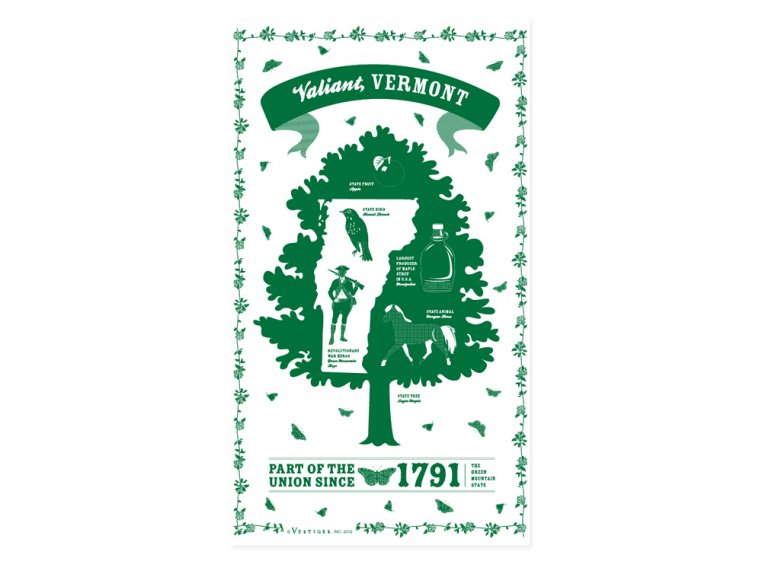 State Tea Towels by Vestiges - 46