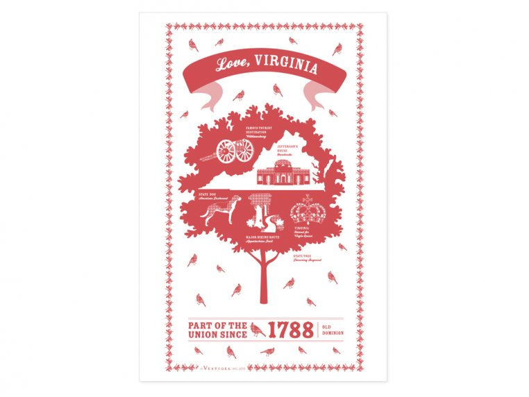 State Tea Towels by Vestiges - 47