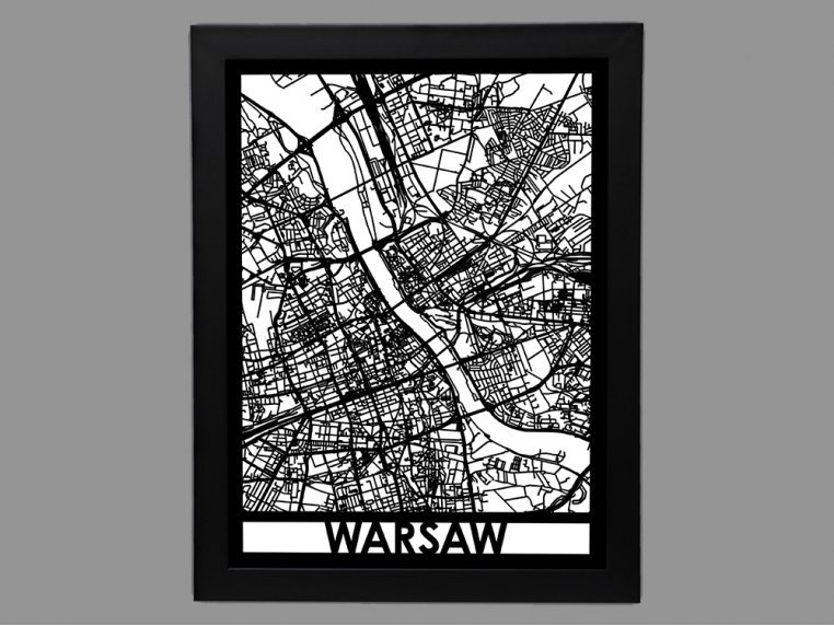 Laser Cut Worldwide City Map by Cut Maps - 48