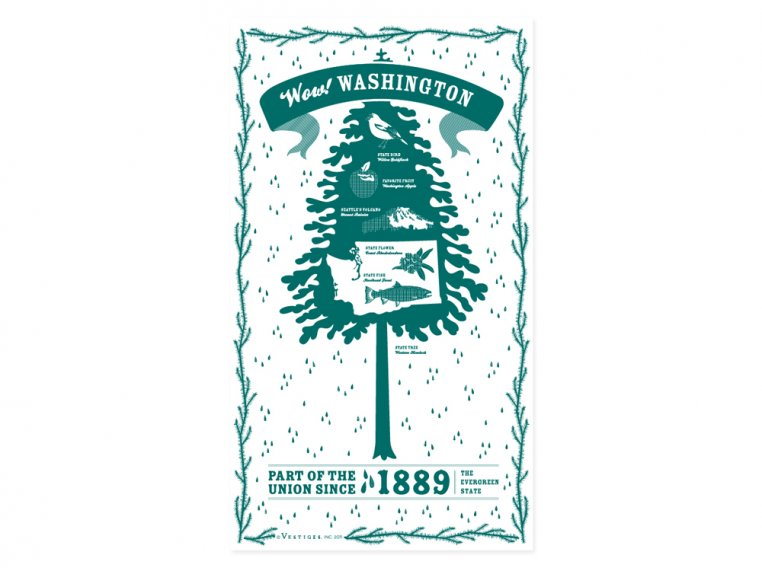 State Tea Towels by Vestiges - 48