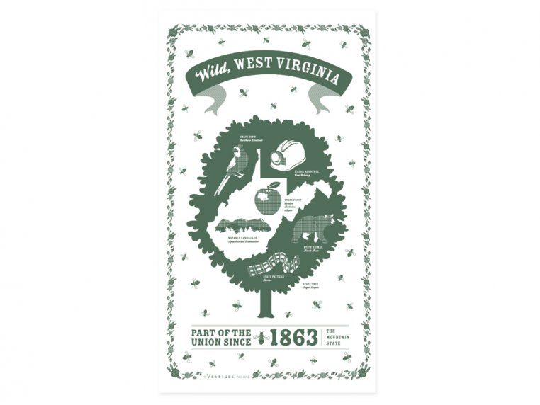 State Tea Towels by Vestiges - 49
