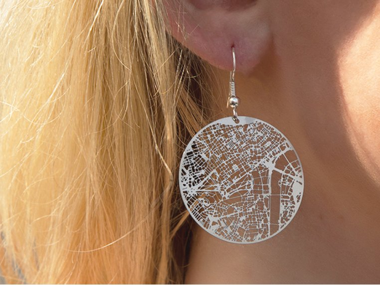 Urban Gridded Jewelry by Aminimal Studio - 1