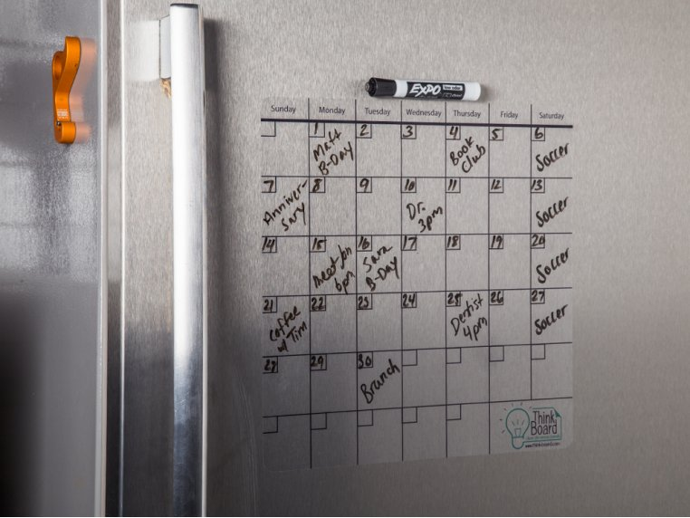 "14"" x 14"" Reusable Idea Calendar by Think Board - 1"