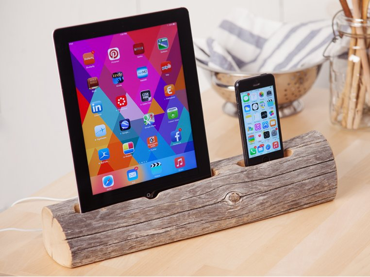 Driftwood Phone and Tablet Dock by Docksmith - 1