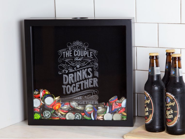 Cap & Cork Shadow Box by Torched Products - 1