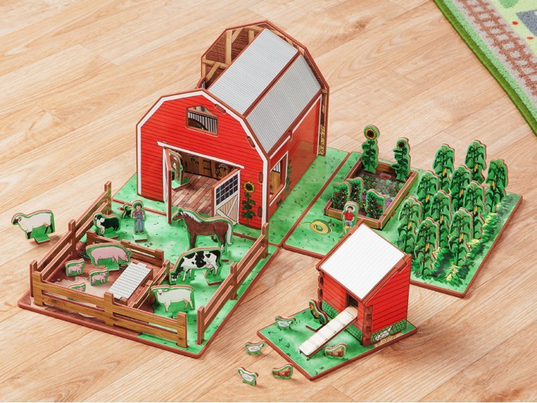 Family Farm Playset & Storybook by Storytime Toys - 1