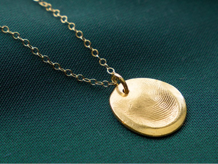 Fingerprint Pendant Necklace Kit by Precious Metal Prints - 1