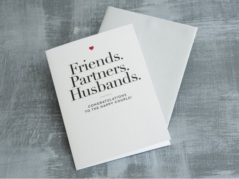 """Friends, Partners, Husbands"" Card by Design With Heart - 1"