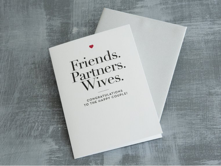 """Friends, Partners, Wives"" Card by Design With Heart - 1"