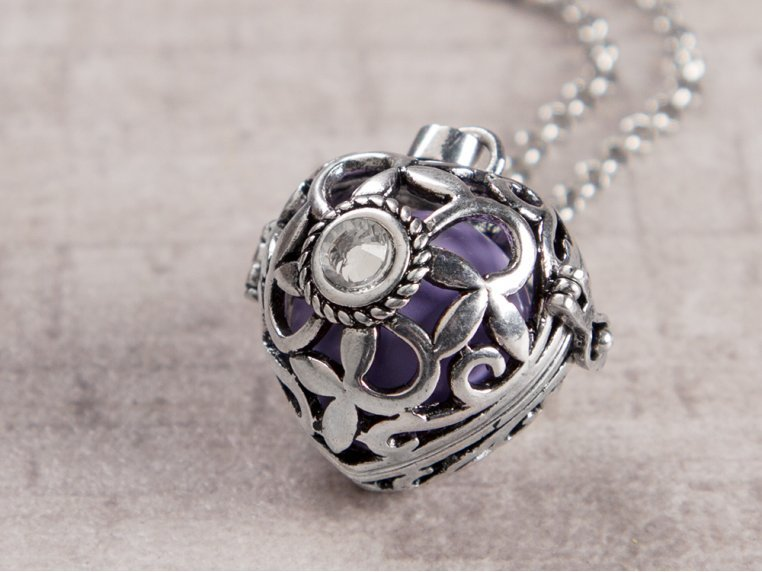 Heart Crystal Angel Locket by Yourself Expression - 1