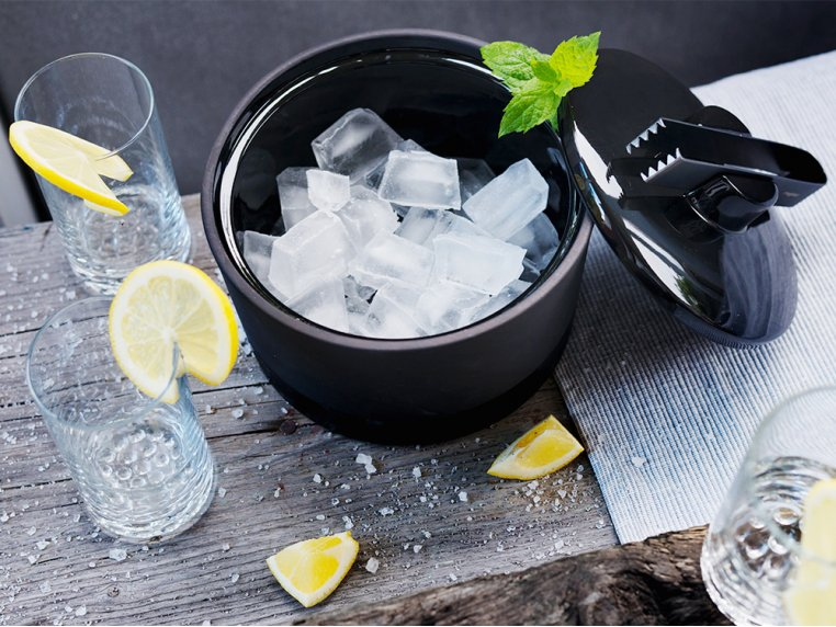 Ice Bucket With Lid & Tongs by Magisso - 1