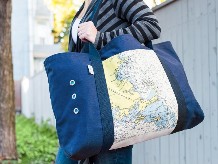 Custom Oversized Beach Tote by Not for Navigation - 1