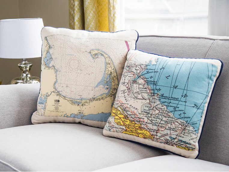 Custom Nautical Pillow by Not for Navigation - 1