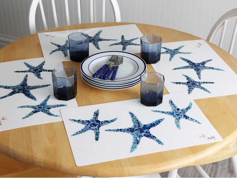 Fish-Rubbing Placemats - Set of 4 by Fish Aye Trading - 1