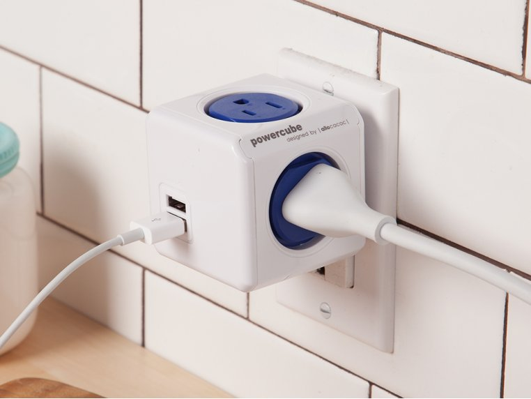 Dual USB Outlet Adapter by PowerCube - 1