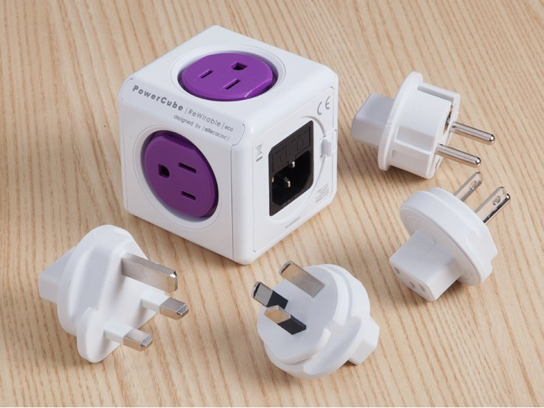Single Outlet Travel Adapter by PowerCube - 1