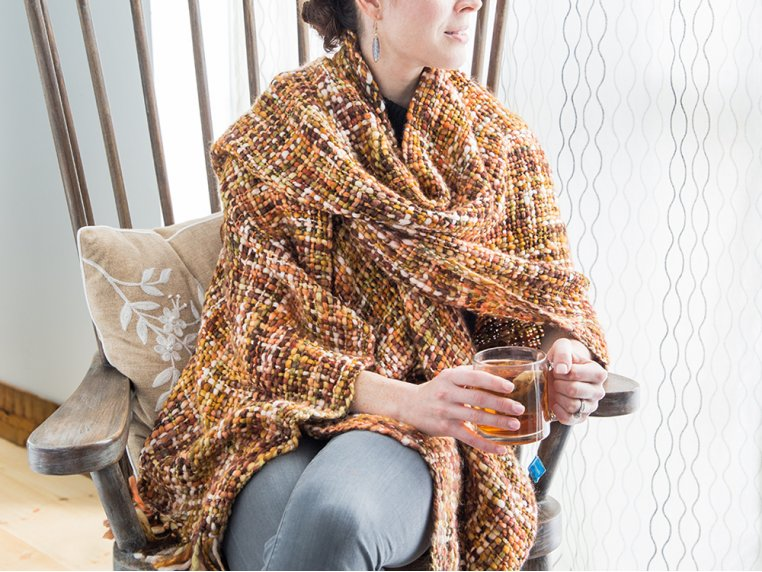 Chunky Knit Ruana - Brown by Rising Tide - 2
