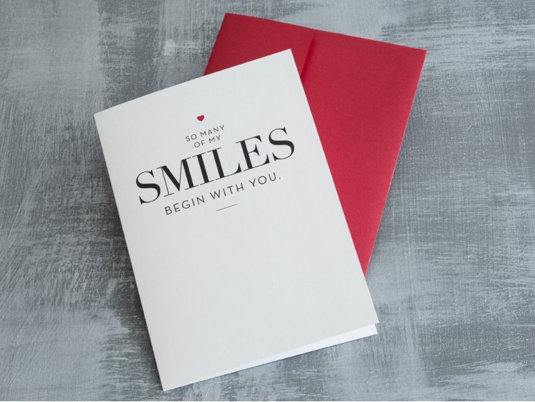 """""""So Many Smiles"""" Greeting Card by Design With Heart - 1"""