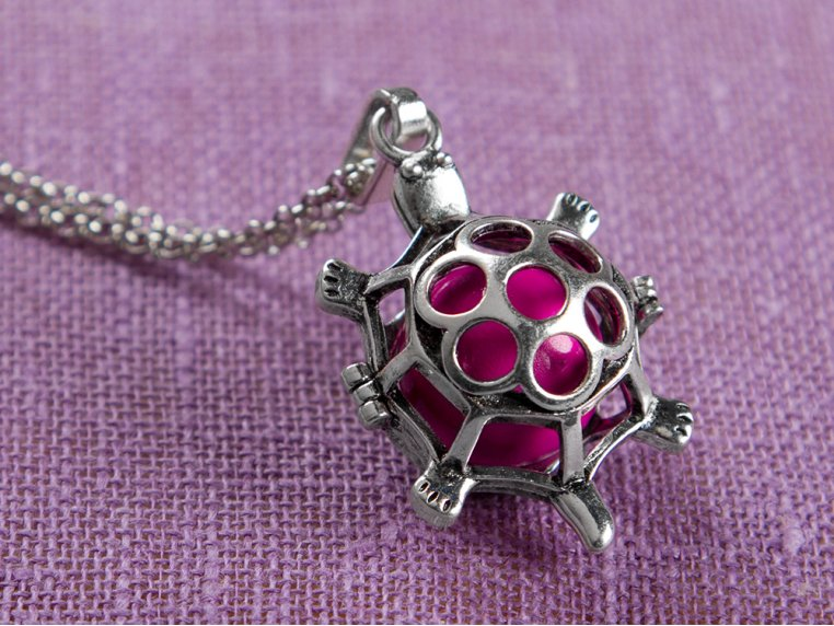 Turtle Angel Locket by Yourself Expression - 1